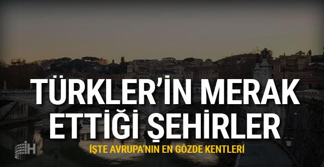 Türklerin en merak ettiği Avrupa şehirleri