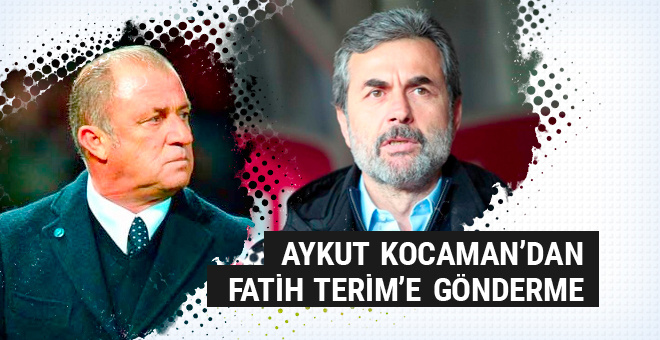 Aykut Kocaman'dan Fatih Terim'e gönderme