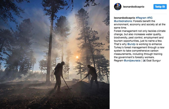 Ünlü oyuncu Leonardo DiCaprio Instagram'da Türkiye'yi paylaştı