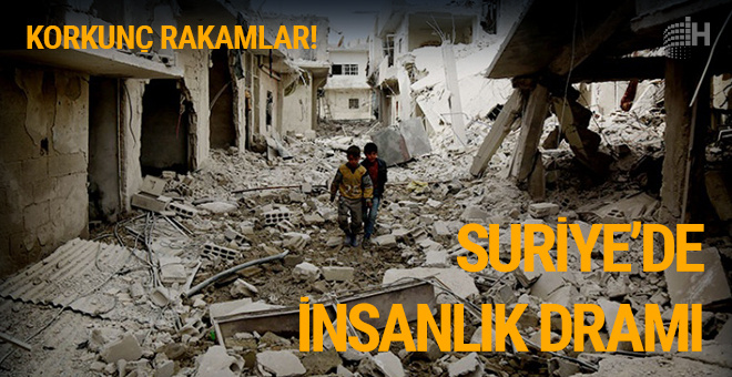 Suriye şok rakamlar: Son 6 ayda 5 bin 381 sivil öldü!
