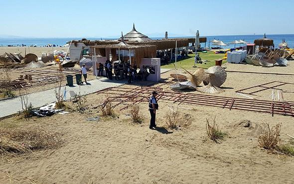 Tatilciler şaştı kaldı: Ünlü plajda hava destekli operasyon!