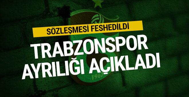 Trabzonspor ayrılığını KAP'A bildirdi
