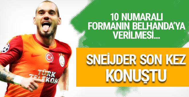 Sneijder son kez konuştu! Tudor ve Belhanda...