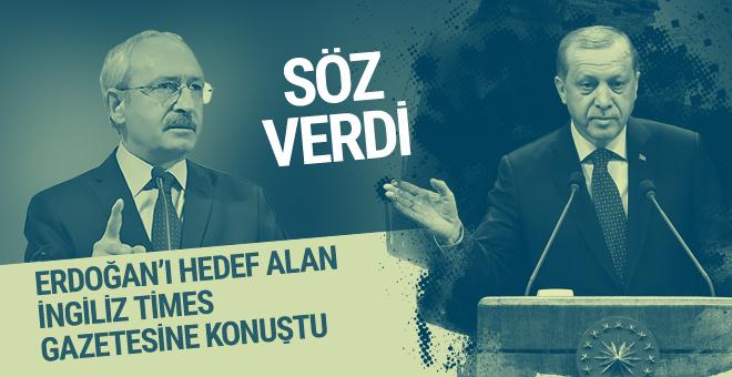 İngiliz Times'a konuşan Kılıçdaroğlu söz verdi!