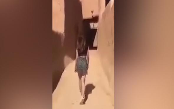 Suudi Arabistan'ı karıştıran mini etekli kadın görüntüsü