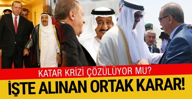 Erdoğan'ın Körfez gezisinde alınan ortak karar!