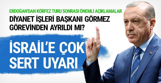 Cumhurbaşkanı Erdoğan'dan Mehmet Görmez açıklaması