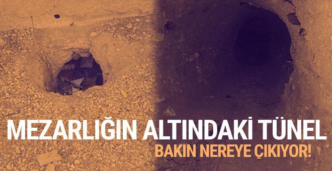 Mardin'de bir mezarlıkta tünel bulundu
