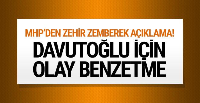 MHP Yalçın'dan Davutoğlu'na şok benzetme!