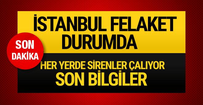 İstanbul fırtınayla yıkıldı! Son dakika haberler geliyor