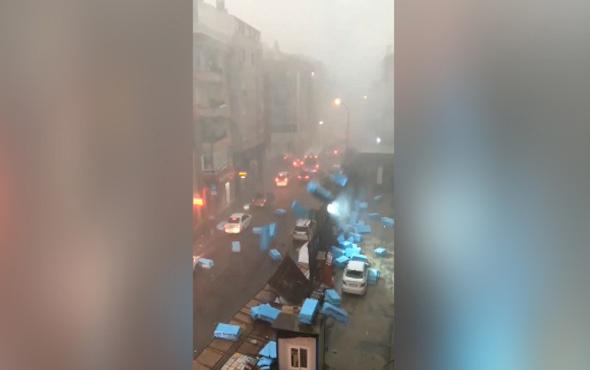 İstanbul böyle dolu görmedi! işte olay görünütler