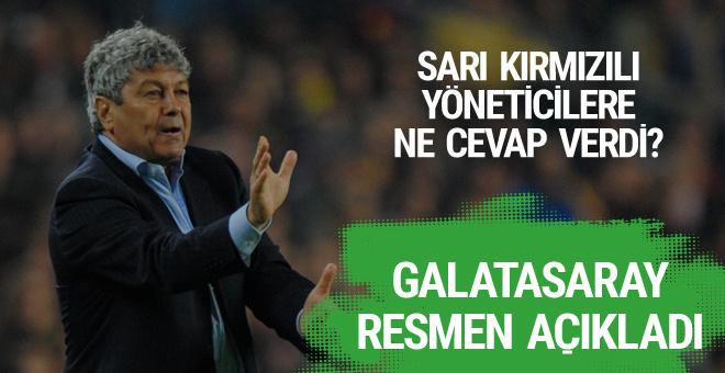 Galatasaray resmen açıkladı! İşte Lucescu'nun kararı