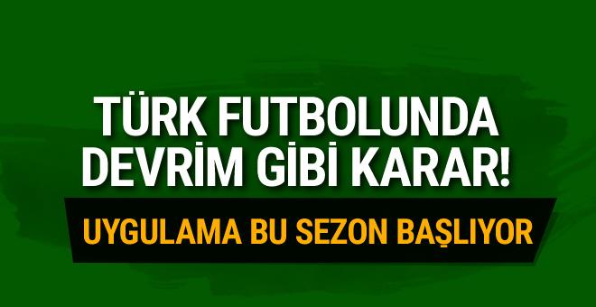Türk futbolunda devrim gibi karar! Kadro sayısı değişti