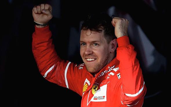 Macaristan'ta zafer Sebastian Vettel'in