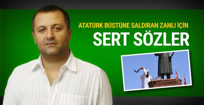 Mehmet Demirkol'dan Atatürk büstüne saldırana sert sözler