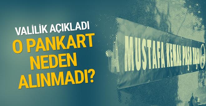 Yaşa Mustafa Kemal Paşa pankartı neden stada alınmadı?