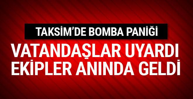 Taksim Meydanı'nda bomba paniği