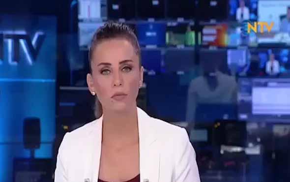 Boğazı gıcık tutan NTV spikeri yayında zor anlar yaşadı