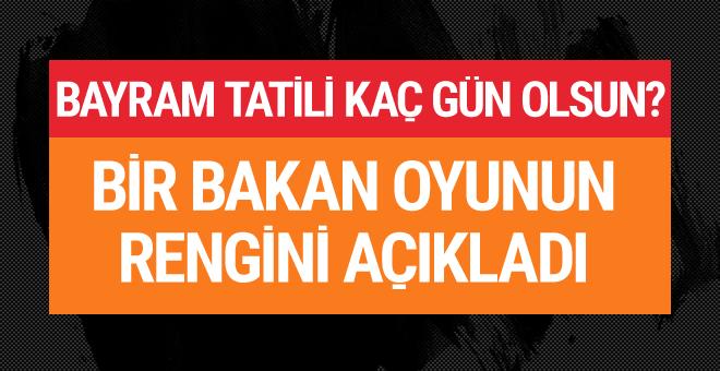 Kurban Bayramı tatili kaç gün olacak Çavuşoğlu rengini açıkladı