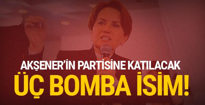 Akşener'in kuracağı yeni parti için üç bomba isim!