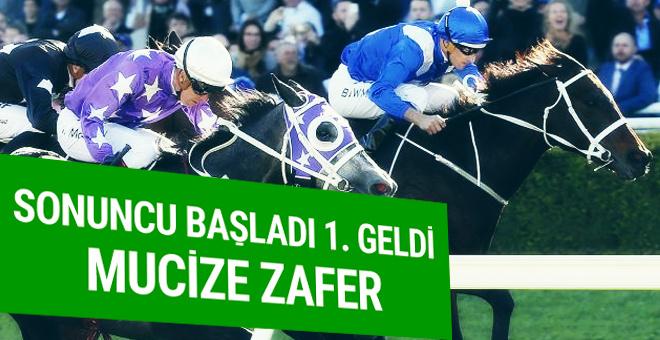 Yarış atından unutulmaz zafer