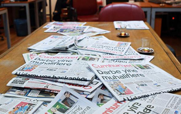 20 Ağustos 2017 Pazar gazete manşetleri