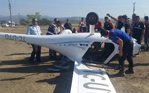 Çanakkale'de uçak kazası: Yürekler ağza geldi!