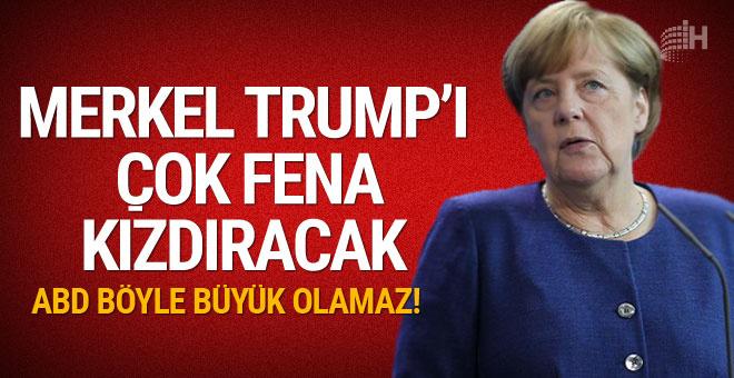 Merkel, 'ABD böyle giderse büyük olamaz' dedi!