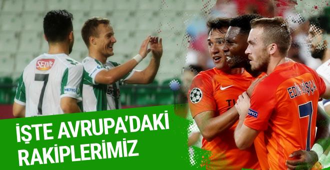 Konyaspor ve Başakşehir'in rakipleri belli oldu
