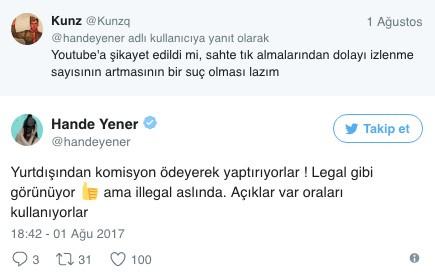 Aleyna Tilki'nin izlenme oranı sahte mi Hande Yener'den ağır sözler
