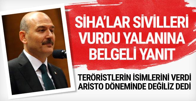 'SİHA'lar sivilleri vurdu' iddiasına yanıt geldi!