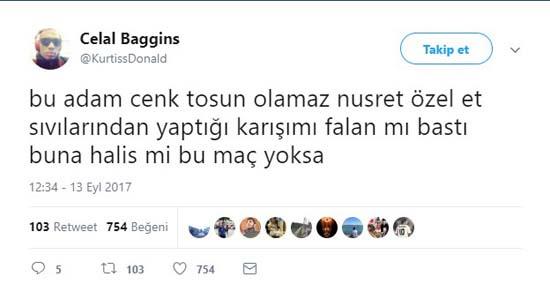 Cenk Tosun golü attı sosyal medya çıldırdı