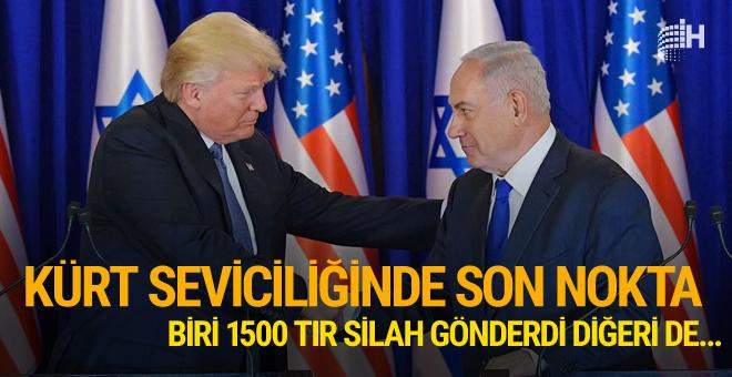 İsrail'den Barzani'ye destek ABD'den PKK'ya TIR'lar dolusu silah!