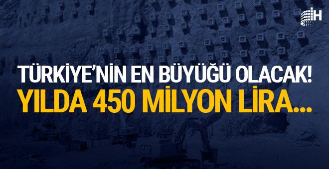 Türkiye'nin en büyüğü olacak! Yılda 450 milyon lira...