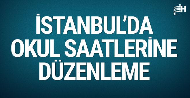 İstanbul'da okul saatlerine düzenleme