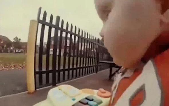 Yürüteçle kaçan bebeğin eğlenceli yolculuğu