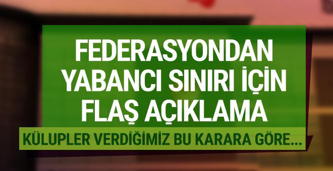 TFF Başkanvekili Nihat Özdemir'den yabancı kuralı açıklaması!