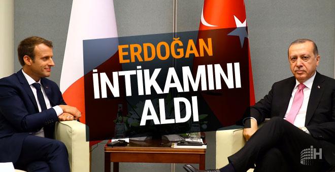 Erdoğan Macron'dan intikamını aldı tweete bakın!