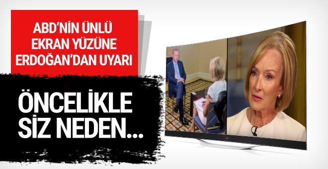 Erdoğan'dan ABD'li gazeteciye sert uyarı öncelikle siz...