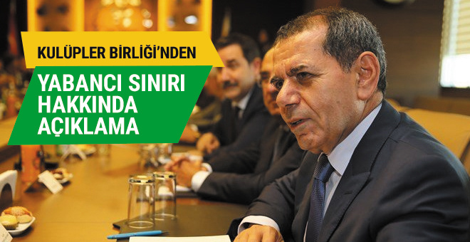 Dursun Özbek'ten yabancı sınırı açıklaması