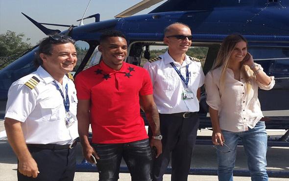 Rodrigues antrenmana helikopterle geldi