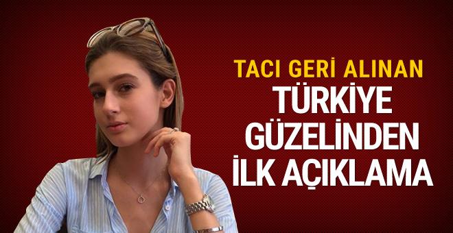 Tacı alınan Türkiye güzelinden açıklama