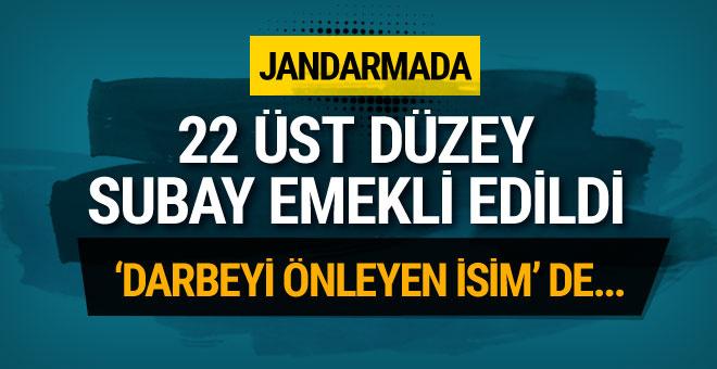 Jandarma'da üst düzey 22 subay emeklile sevkedildi