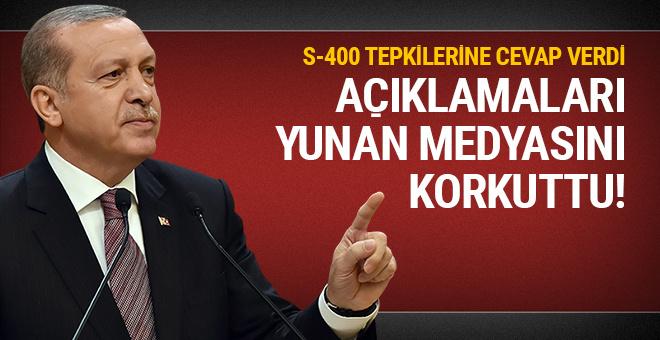 Erdoğan'ın açıklamaları Yunanistan'ı korkuttu!