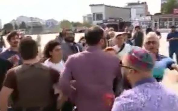 Basın özgürlüğü diyenler Beyaz TV muhabirine saldırdı!