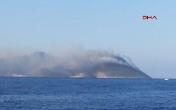 Yunanistan'ın Meis Adası'nda yangın
