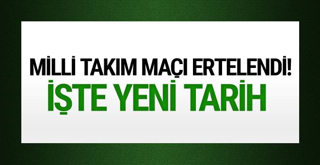 Türkiye-Hırvatistan maçı ertelendi