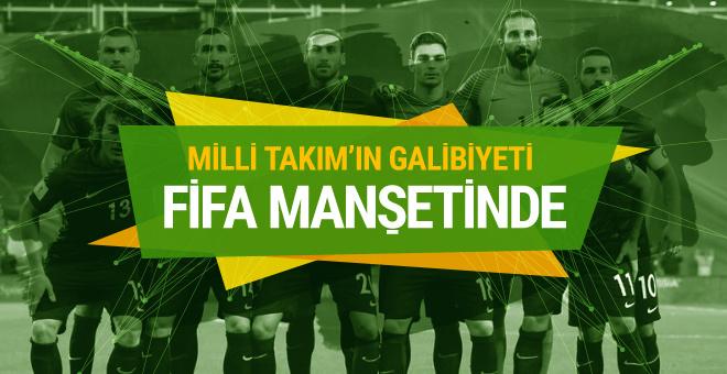 Türkiye'nin Hırvatistan galibiyeti FIFA'nın manşetinde