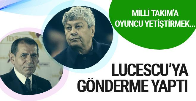 Dursun Özbek'ten Lucescu'ya gönderme!