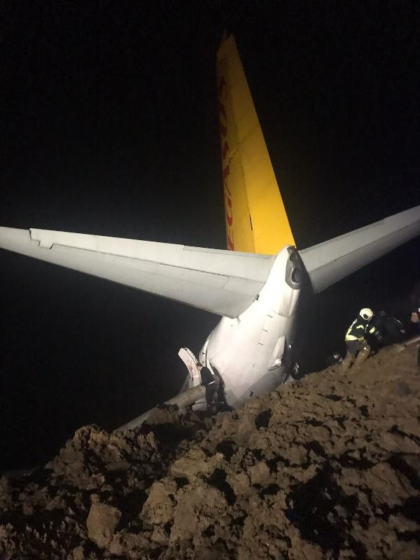 Uçak pistten çıktı! 'Herkes birbirini eziyordu kurtulmamız mucize'